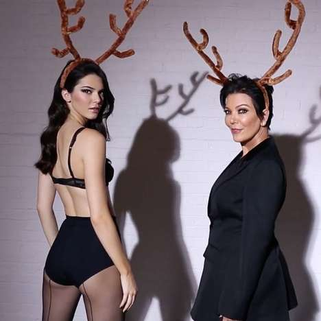 Magazine Christmas Countdowns - The LOVE Advent Calendar Stars Kendall and Kris Jenner on Day 23