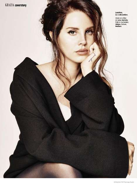 Casual Glam Fashion - Singer Lana Del Rey Stars in the Latest Issue of Grazia France