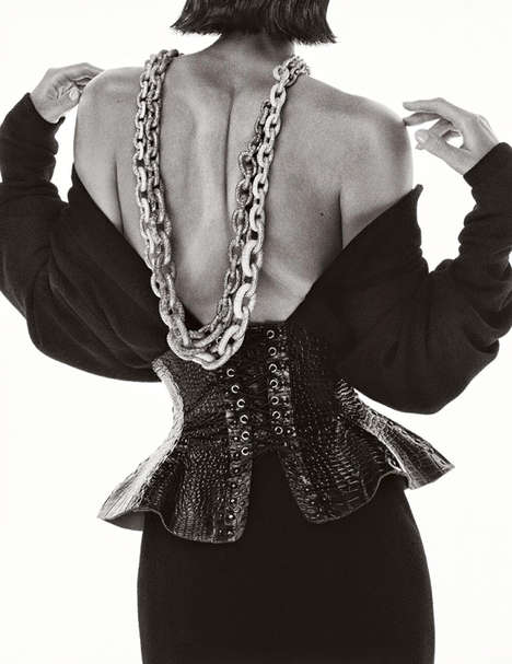 Chunky Chained Editorials - The 2014 Numero Magazine Txema Yeste Photoshoot Includes Thick Jewelry