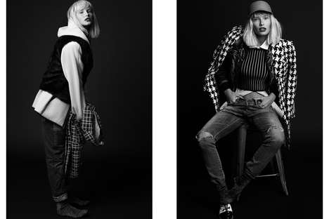 Boyish Streetwear Pictorials - Glassbook Magazine's Tomboy Fashion Editorial is Androgynous and Edgy