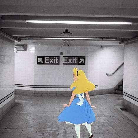 Urban Disney Collages - Harry McNally's Superimposed Disney Art is Candid and Raw