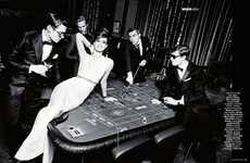 The Madame Figaro Nuit Blanche Photoshoot Features Casino Scenes