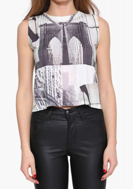 Urban Cityscape Apparel - Necessary Clothing's Brooklyn Bridge Tank is Graphically Bold