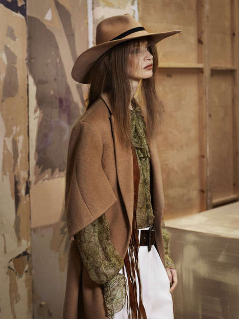 Western Outerwear Editorials - The Elle Sweden John Scarisbrick Photoshoot Shows Cowgirl Couture