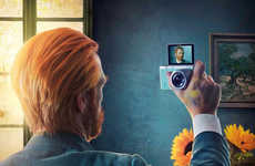 Reimagined Image Ads - These Samsung NX mini Camera Ads Transform Self Portraits into Selfies
