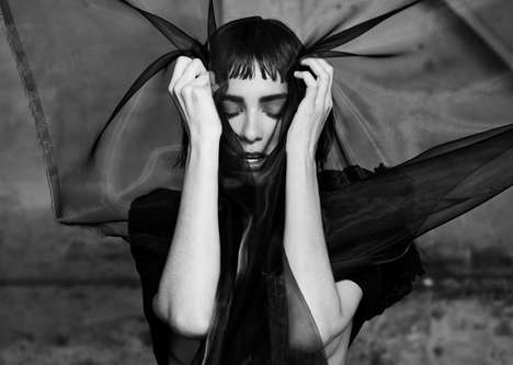 Mysterious Occult Editorials - Margaux Brooke Stars in an Edgy and Dark Shoot for Revs Digital #7