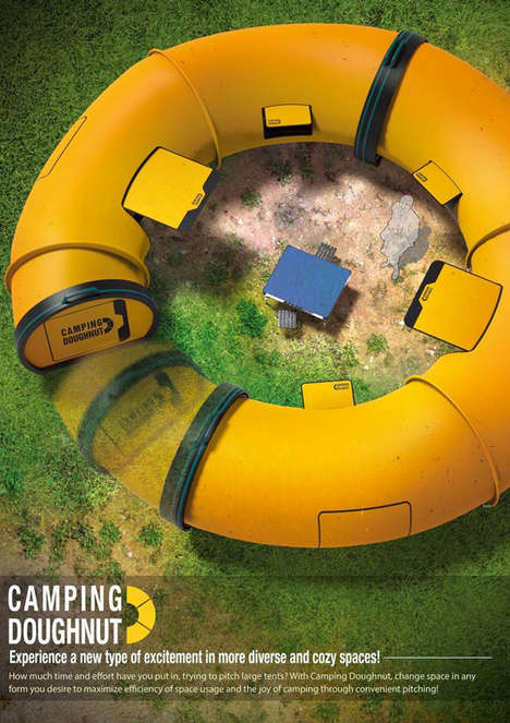 Gigantic Doughnut Tents - The Camping Doughnut Lets You Customize the Shape of Your Outdoor Tent