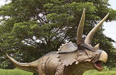 This Triceratops Dinosaur Statue is a Clear Winner for Prehistoric Fans