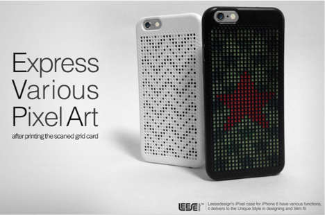 Custom Pointillism Phone Cases - The iPixel Case for iPhone 6 Allows for One-of-a-Kind Designs