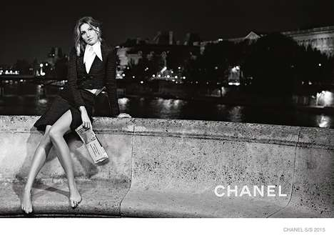 Barefoot Couture Campaigns - The Latest Chanel Spring/Summer Advertisements Feature Relaxed Images