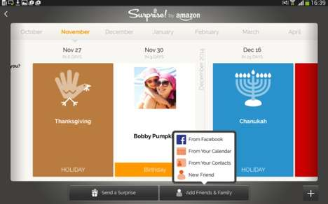 Customizable Gifting Apps - Amazon Surprise! Allows You to Attach Gift Cards to eCards