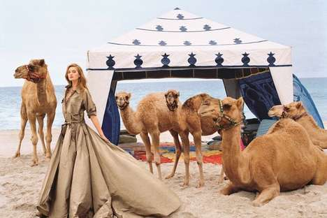 Upscale Camel Campaigns - The Latest Ralph Lauren Spring/Summer Advertisements Show Desert Animals