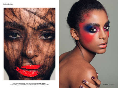 Artistic Makeup Editorials - Institute Magazine's State of Grace Story is Conceptually Themed