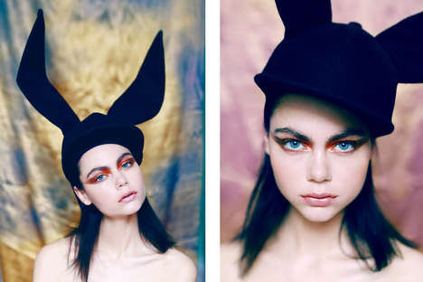 Costumed Cosmetic Editorials - Glassbook Magazine's Estelle Editorial Highlights Artistic Headwear