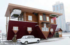 Surrealist Siberian Residences - The Upside Down House Challenges Reality and Convention
