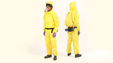 Color-Coded Ebola Suits - The Ebola Suit's Color Coding Shows Which Surfaces Are Safe to Touch