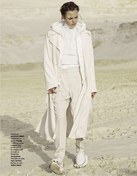 Wandering Whiteout Editorials - The Grazia France Taghi Naderzad Photoshoot Shows Creamy Scenes