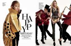 Deliberately Celebratory Editorials - The Madame Figaro Greece Happy Birthday! Photoshoot is Festive