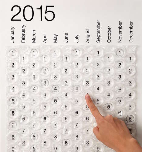 Sensory Satisfaction Calendars - The 2015 Bubble Calendar is For Those Who Love to Pop