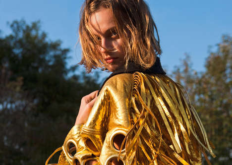 Markedly Metallic Editorials - The Interview Germany Paulina Heiler Photoshoot Shows Glowing Styles