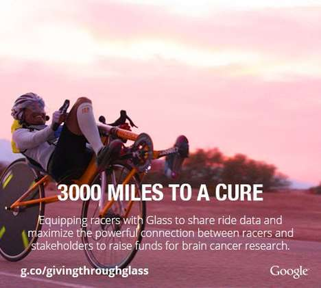 Charitable Journey-Sharing Glasses - 3000 Miles to a Cure Won the Google Through Glass Challenge