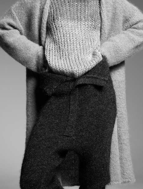 Sleek Sweater Editorials - The L'Officiel Italia Knitted Sensuality Photoshoot Displays Warm Apparel