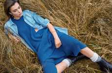 Particularly Pastoral Editorials - The Eurowoman Mariya Pepelanova Photoshoot Displays Farm Settings