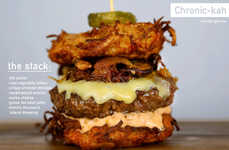 Indulgent Holiday Burgers - The Chronic-kah Burger Pays Tribute to Traditional Chanukah Flavors