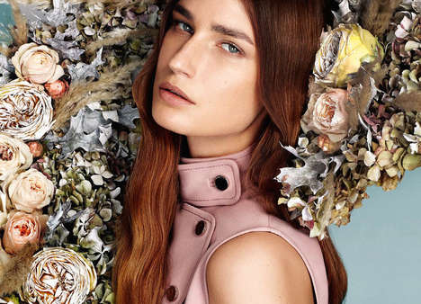 Mod Botanical Editorials - Eugenia Volodina Poses in Stylish Pastel Hues for L'officiel Turkey