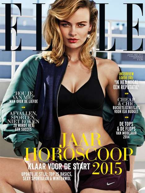Urban Workout Editorials - Model Stef Van Der Laan Shows Off Her Fitness for Elle Netherlands