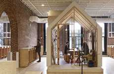 Nomadic Travel Offices - The Airbnb Portland Office Boasts Whimsical and Rustic Details