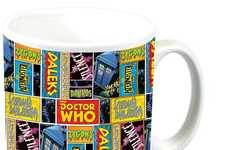 Galactic Comic Mugs - This Doctor Who Mug is Covered in Vintage Graphic Novel Panels