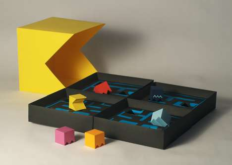 Computer Game Cartons - This Pacman Packaging Concept Was Made to Be Playful and Interactive