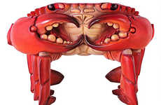 Creepy Crustacean Seating - This Realistic Crab Chair is Perfect for Eclectic Beach Abodes