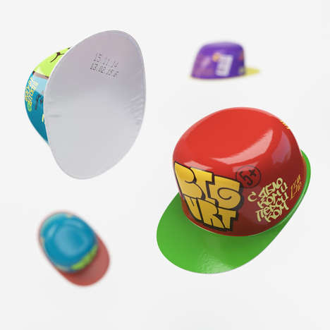 Yogurt Cap Containers - This Yogurt Cup Concept Imagines Containers as Tiny Hats