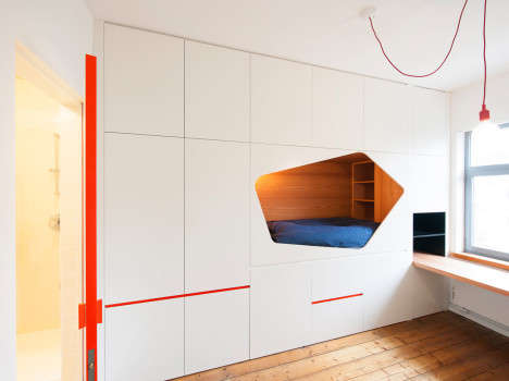 Space-Saving Sleeping Nooks - The MAt Bedroom Efficiently Arranges All Furniture Along One Wall