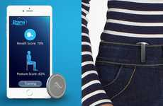Posture Perfecting Monitors - The Prana Wearable Tracker and App Helps You Breathe Better Too