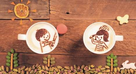 Stop Motion Latte Ads - Aijinomoto General Foods's Latte Art Animation Adorably Tells a Love Story