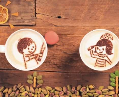 Stop Motion Latte Ads