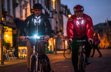 Life-Saving Cycling Jackets - The Visijax LED Jacket Features Built-In LEDs for Rider Visibility