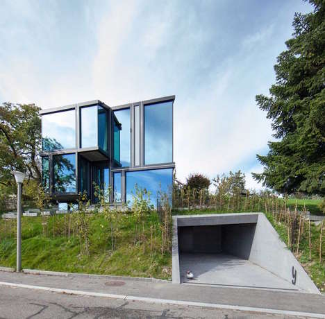 Sculptural Glass Dwellings - The Rebberg Dielsdorf House is Modeled After a Vine