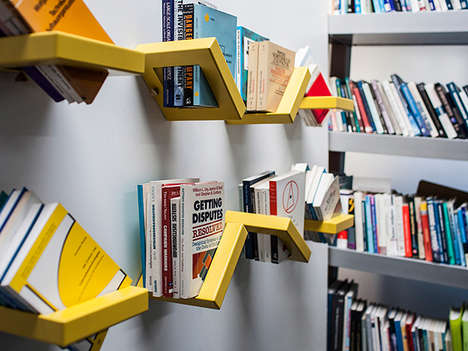 Slanted Square Ledges - The 360 Shelf Brings a Practical Angle to Storing Individual Items