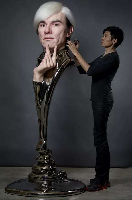 Hyper-Realistic Artist Tributes - This Lifelike Andy Warhol Sculpture is Created by Kazuhiro Tsuji