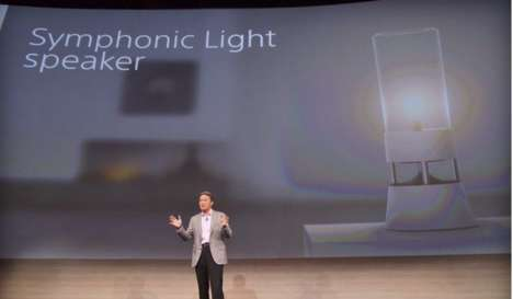 Sleek Speaker Lamps - Sony Unveils the Symphonic Light Lamp and Bulb at CES 2015
