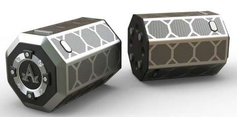 Split Bluetooth Speakers - CES 2015 Marks the Launch of the Prodigy Bluetooth Speaker from A-Audio