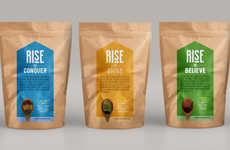 Uplifting Superfood Packaging - Rise's Health Food Branding Incites Challenge and Change