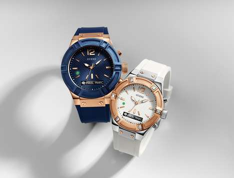 Glamorous Designer Smartwatches - The Guess Connect Features the Brand's Signature Aesthetic