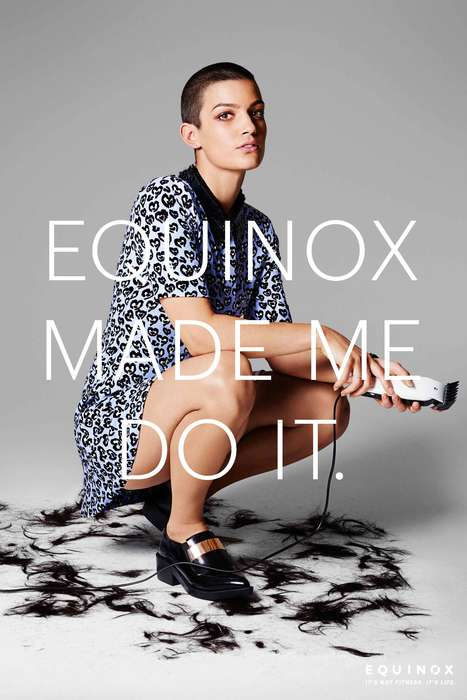 Flamboyant Fitness Branding - This Equinox Ad Campaign Illustrates a Workout's Positive Side Effects