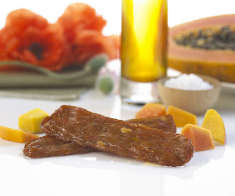 Exotic Chicken Snacks - Simply Snackin's Dried Chicken Strip Takes Inspiration from Beef Jerky