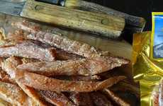 Reptilian Dried Meat Snacks - Mountain America's Alligator Jerky Will Appeal to Eclectic Carnivores